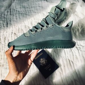Teal Adidas Tubular Sneakers